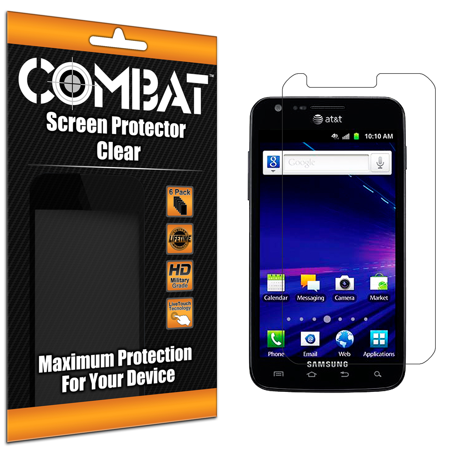 Samsung Skyrocket i727 Combat 6 Pack HD Clear Screen Protector