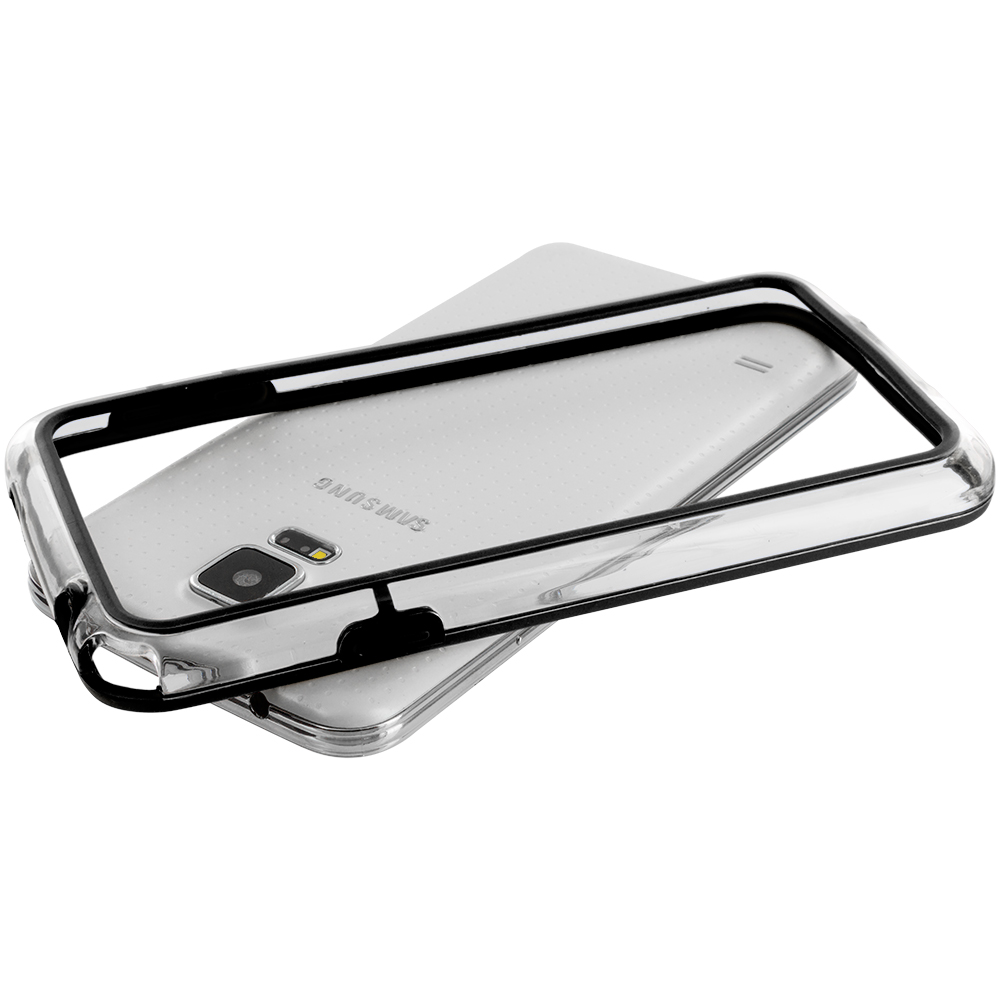 Samsung Galaxy S5 Black / Clear TPU Bumper Frame Case Cover