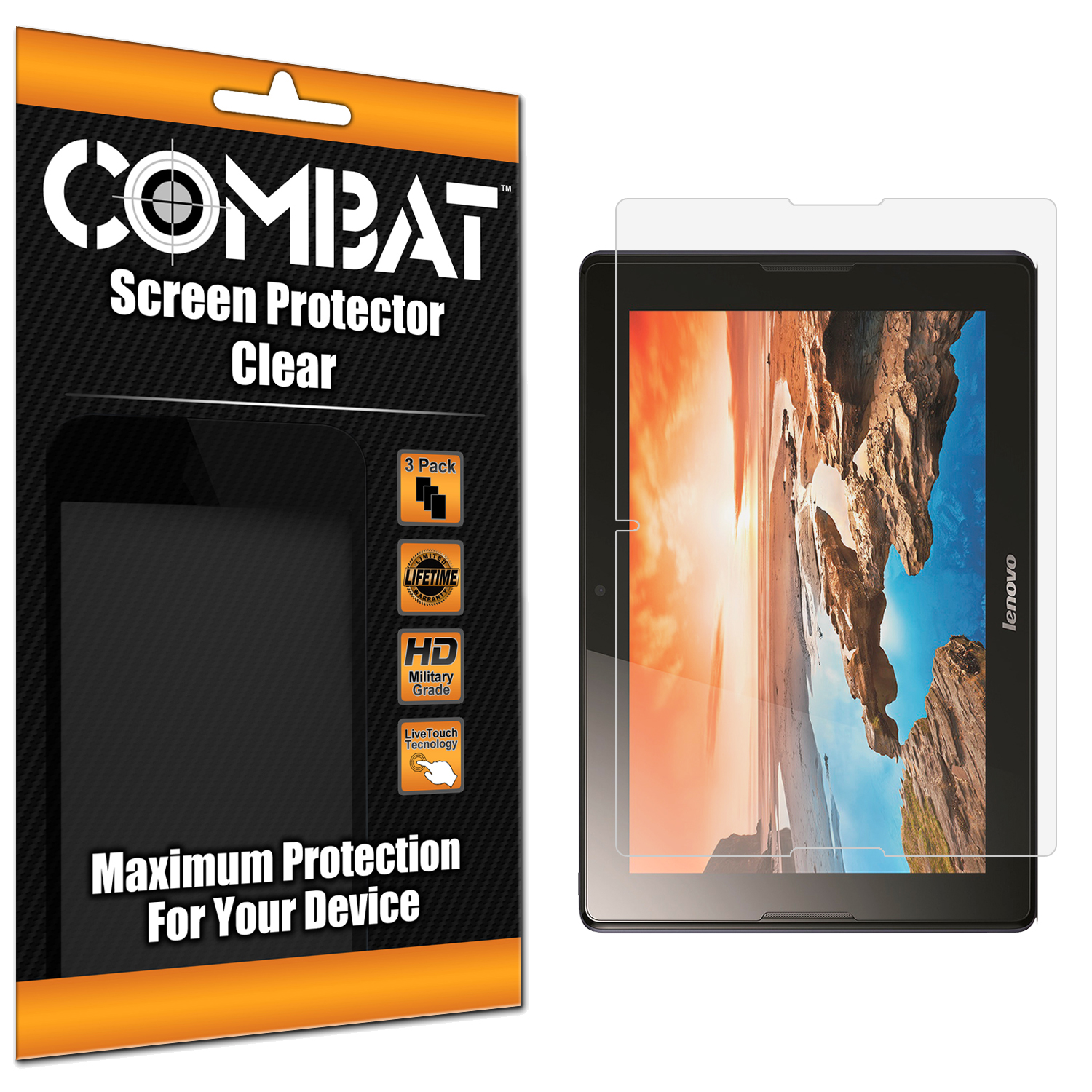 Lenovo Tab A10 Combat 3 Pack HD Clear Screen Protector