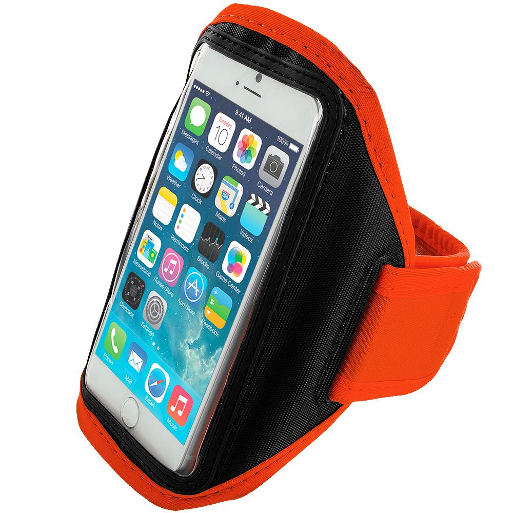 Apple iPhone 6 Plus 6S Plus (5.5) Orange Running Sports Gym Armband