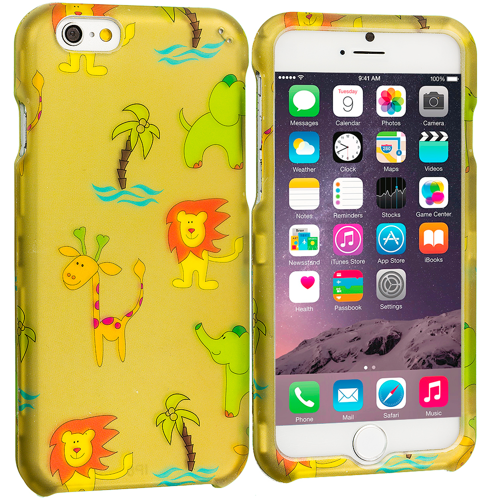 Apple iPhone 6 6S (4.7) Zoo 2D Hard Rubberized Design Case Cover