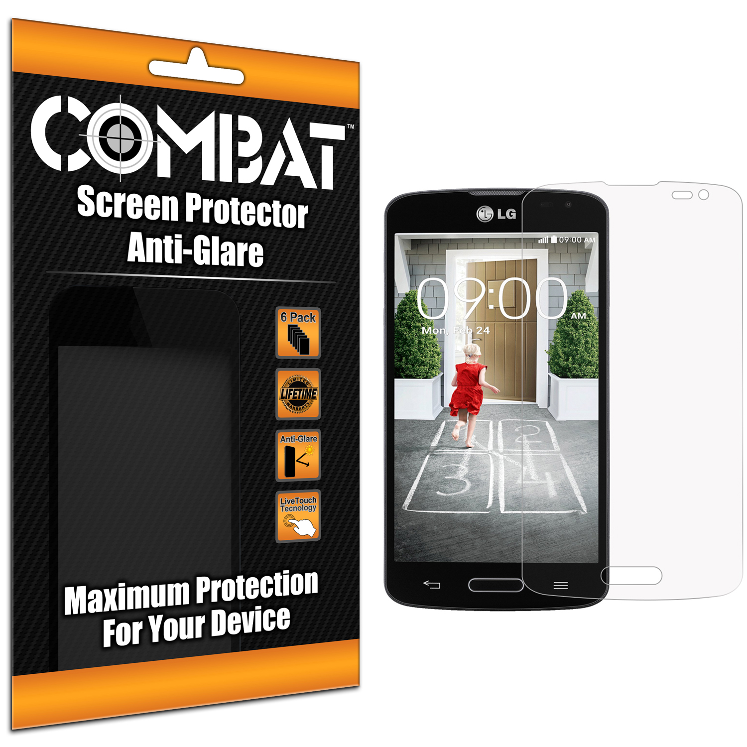 LG Optimus F70 Combat 6 Pack Anti-Glare Matte Screen Protector