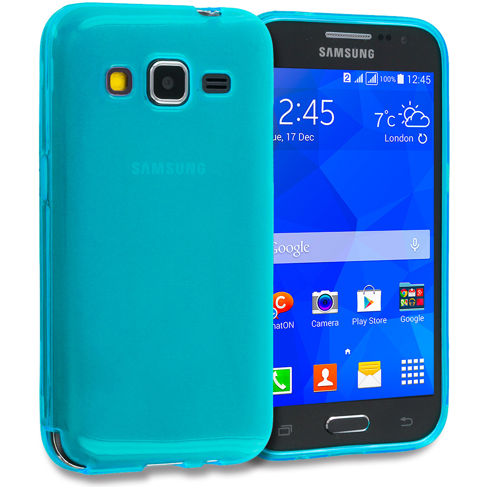 Samsung Galaxy Prevail LTE Core Prime G360P Baby Blue TPU Rubber Skin Case Cover