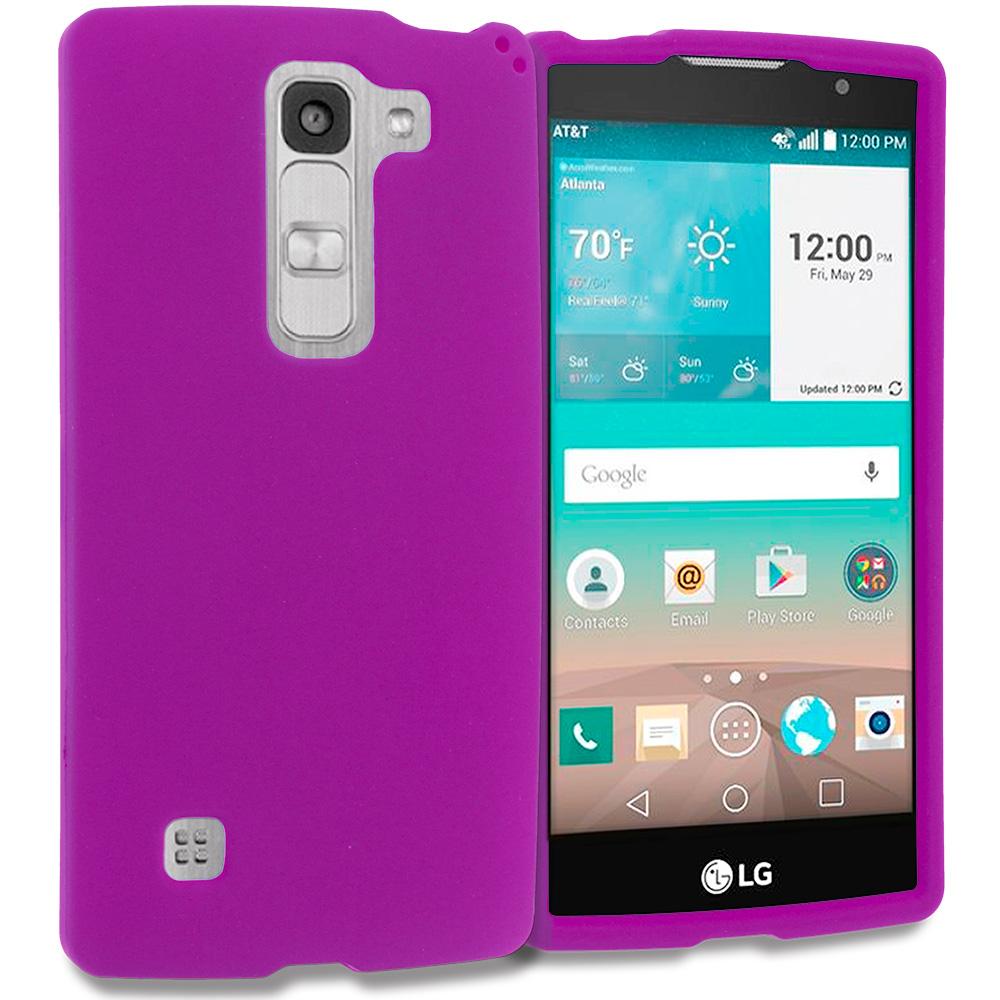 LG Escape 2 Logos Spirit LTE Purple Hard Rubberized Case Cover