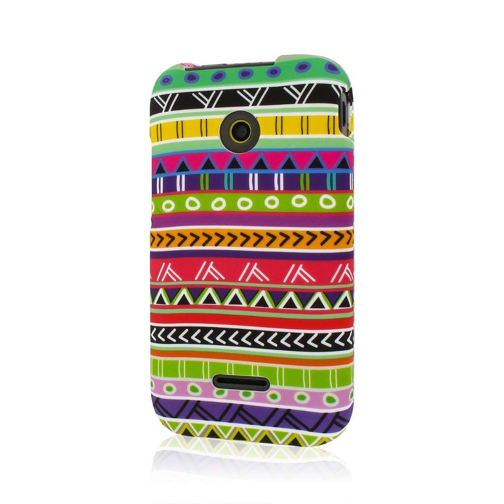 Huawei Prism 2 - Aztec Fiesta MPERO SNAPZ - Rubberized Case Cover