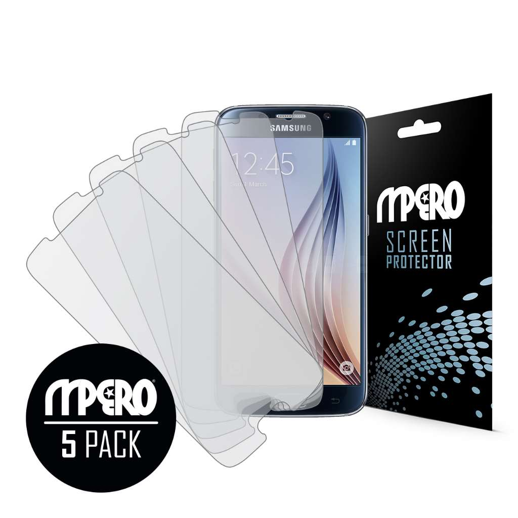 Samsung Galaxy S6 MPERO 5 Pack of Matte Screen Protectors