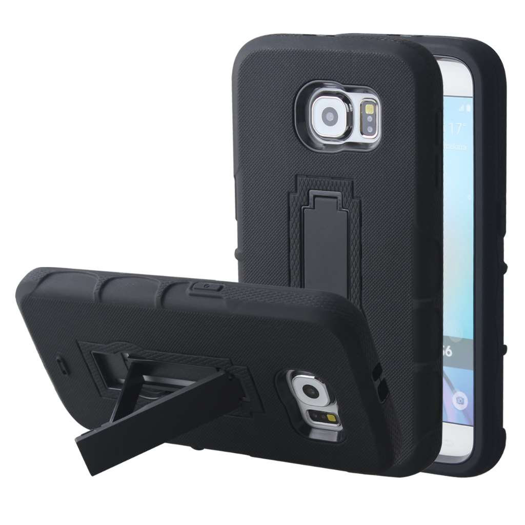 Samsung Galaxy S6 - Black MPERO IMPACT XS - Kickstand Case Cover