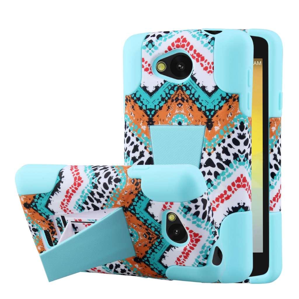 LG F60 - Aqua Safari MPERO IMPACT X - Kickstand Case Cover