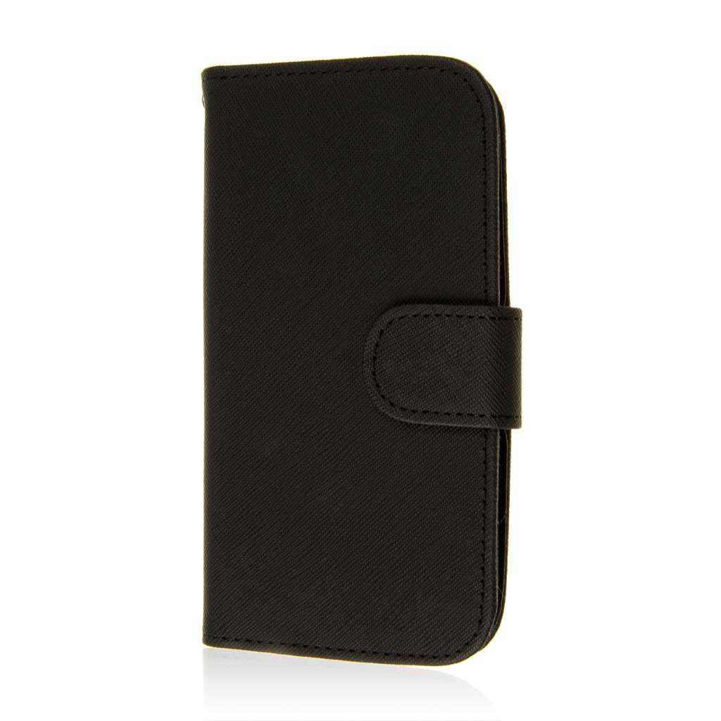 Motorola Moto G 2nd Gen 2014 - Black MPERO FLEX FLIP Wallet Case Cover