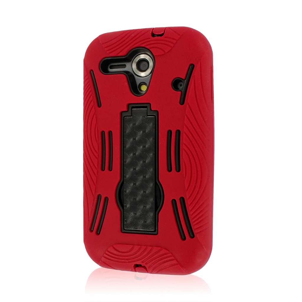 Kyocera Hydro EDGE C5215 - Red MPERO IMPACT XL - Kickstand Case Cover