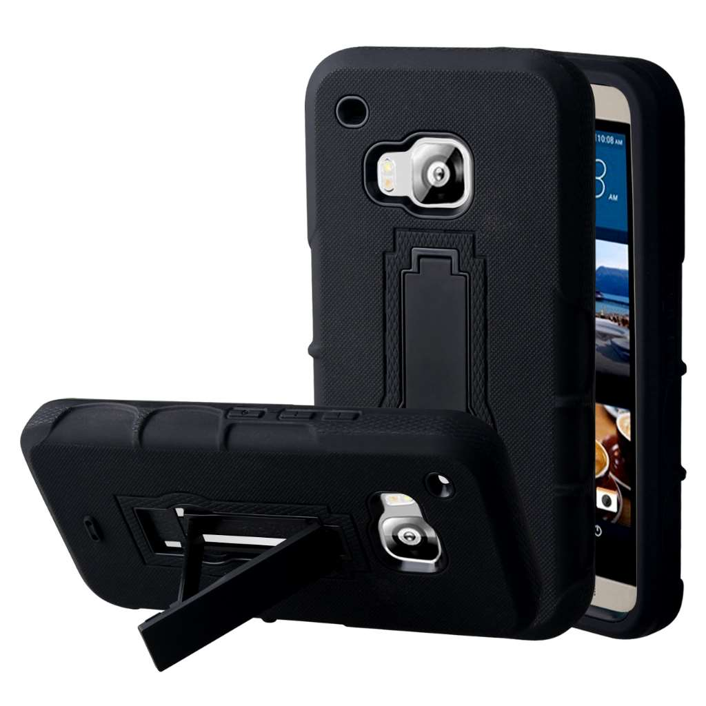 HTC One M9 - Black MPERO IMPACT XS - Kickstand Case Cover