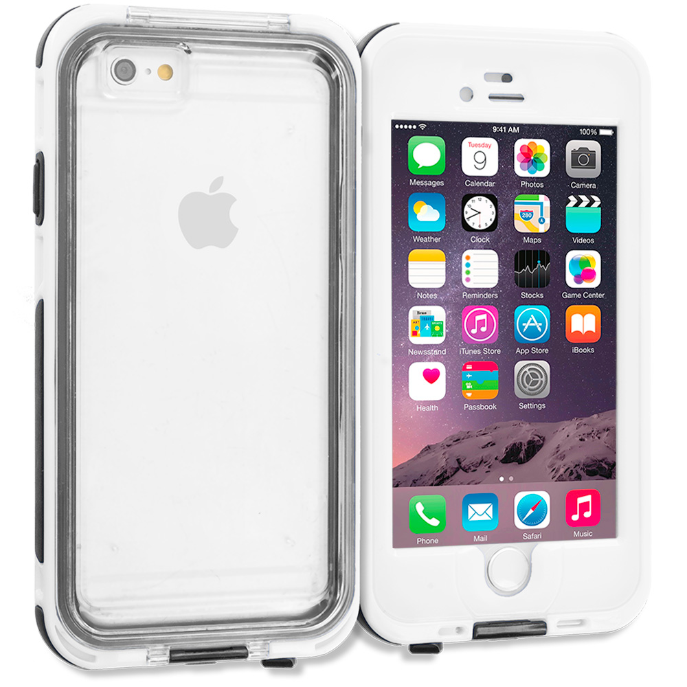 Apple iPhone 6 Plus 6S Plus (5.5) White Waterproof Shockproof Dirtproof Hard Full Protection Case Cover