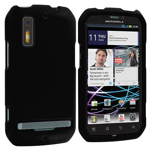 Motorola Photon 4G MB855 Black Hard Rubberized Case Cover