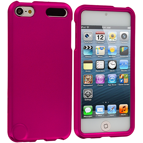 Apple iPod Touch 5th 6th Generation Hot Pink Hard Rubberized Case Cover