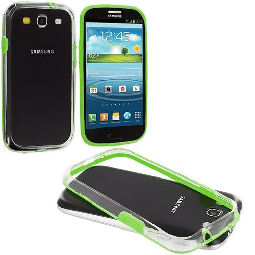 Samsung Galaxy S3 Neon Green / Clear TPU Bumper