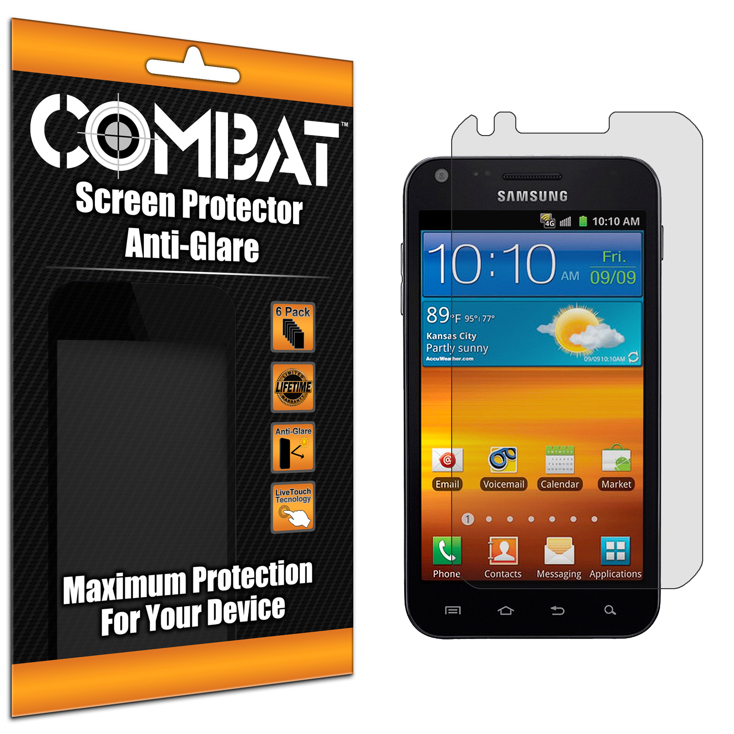 Samsung Epic Touch 4G D710 Sprint Galaxy S2 Combat 6 Pack Anti-Glare Matte Screen Protector