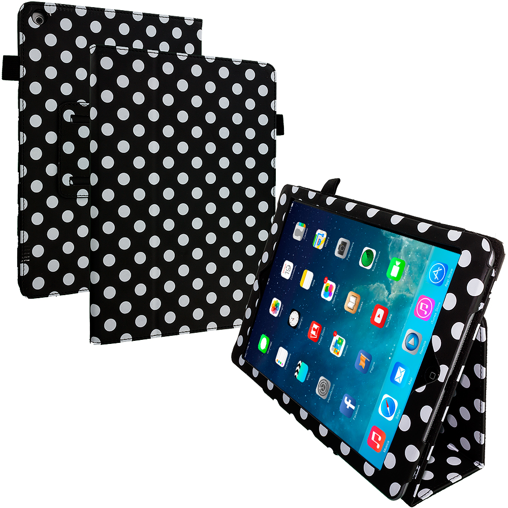 Apple iPad Air Polka Dot Folio Pouch Flip Case Cover Stand