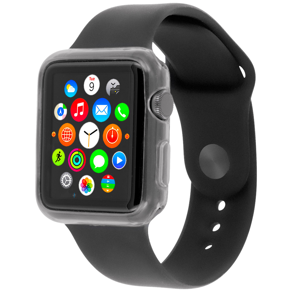 Apple Watch 42mm Clear TPU Rubber Skin Case Cover