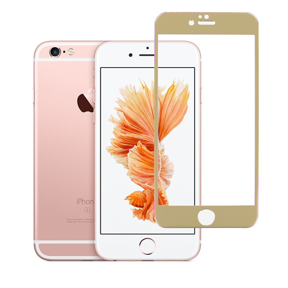 Apple iPhone 6 Plus 6S Plus (5.5) Gold Titanium Tempered Glass Hard Premium Screen Protector