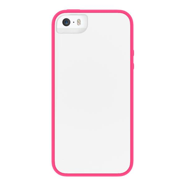 iPhone 5/5S/SE - White/Pink Skech Glow Case