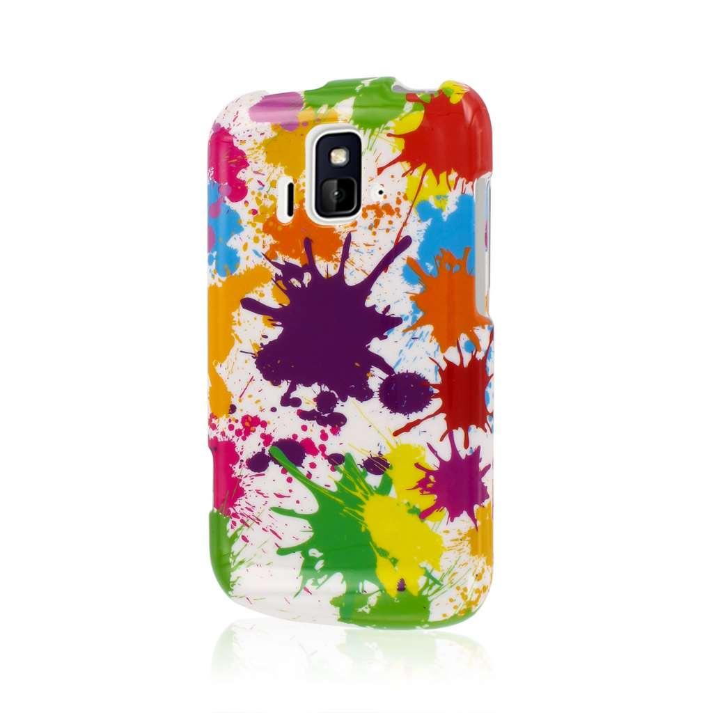 ZTE Radiant/ Sonata 4G - White Paint Splatter MPERO SNAPZ - Glossy Case