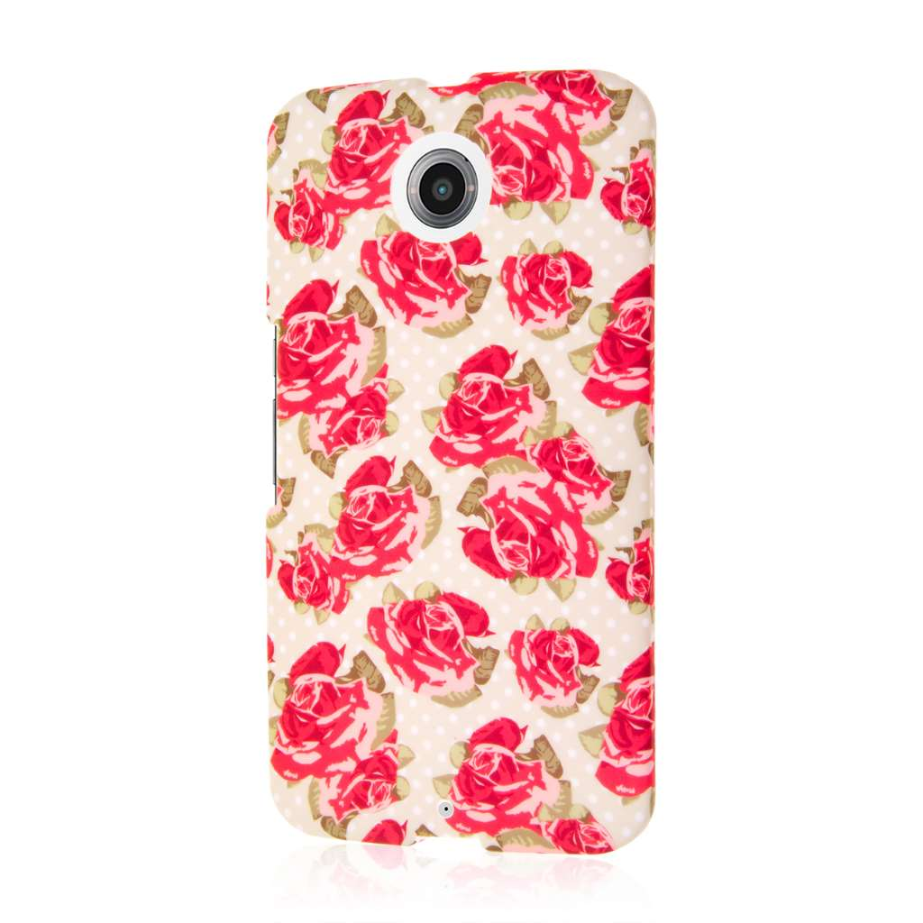 Google Nexus 6 - Vintage Red Roses MPERO SNAPZ - Case Cover
