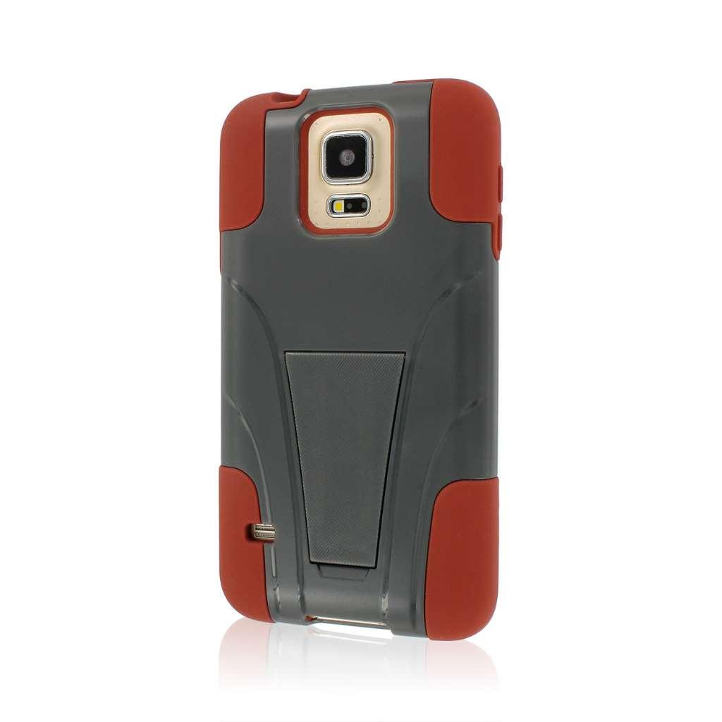 Samsung Galaxy S5 - Sandstone / Gray MPERO IMPACT X - Kickstand Case Cover