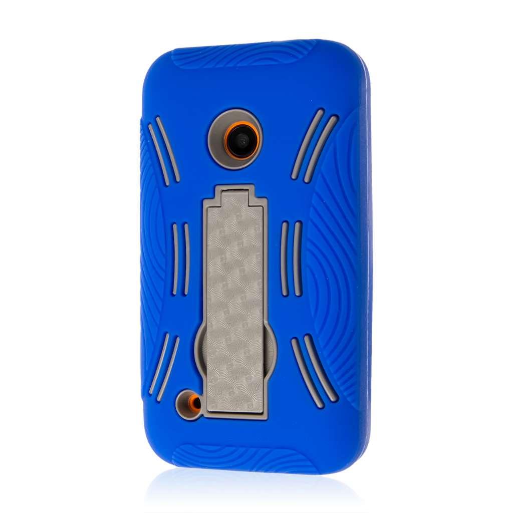 Nokia Lumia 530 - Blue MPERO IMPACT XL - Kickstand Case Cover