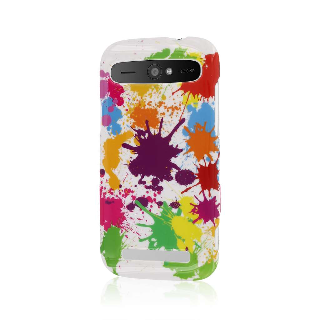 ZTE Grand S Pro - White Paint Splatter MPERO SNAPZ - Case Cover