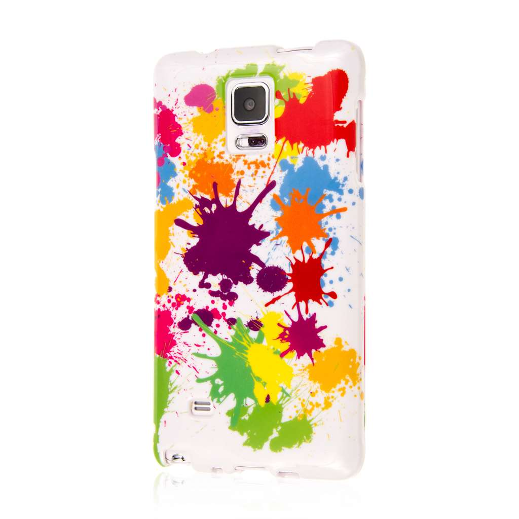 Samsung Galaxy Note 4 - White Paint Splatter MPERO SNAPZ - Case Cover
