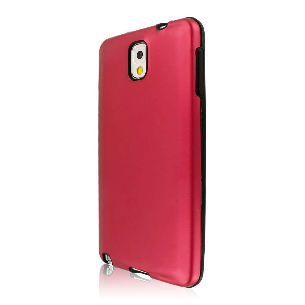 Samsung Galaxy Note 3 - Red Gunmetal MPERO FUSION AL - Protective Case Cover