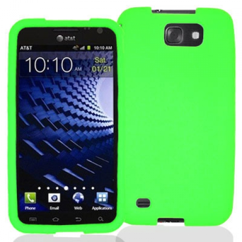 Samsung Skyrocket HD i757 Neon Green Silicone Soft Skin Case Cover