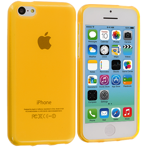 Apple iPhone 5C Yellow TPU Rubber Skin Case Cover
