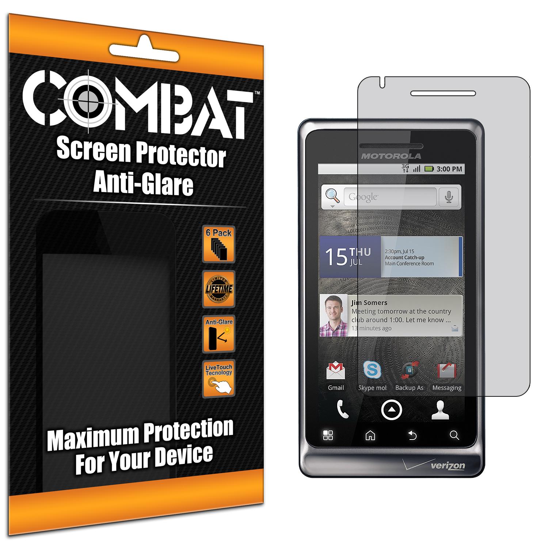 Motorola Droid 2 A955 Combat 6 Pack Anti-Glare Matte Screen Protector