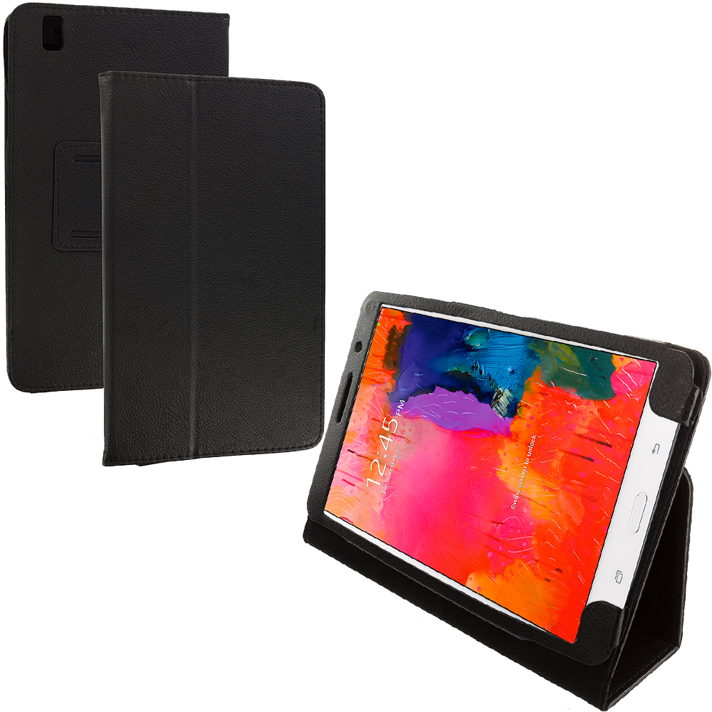 Samsung Galaxy Tab PRO 8.4 Black Folio Pouch Flip Case Cover Stand