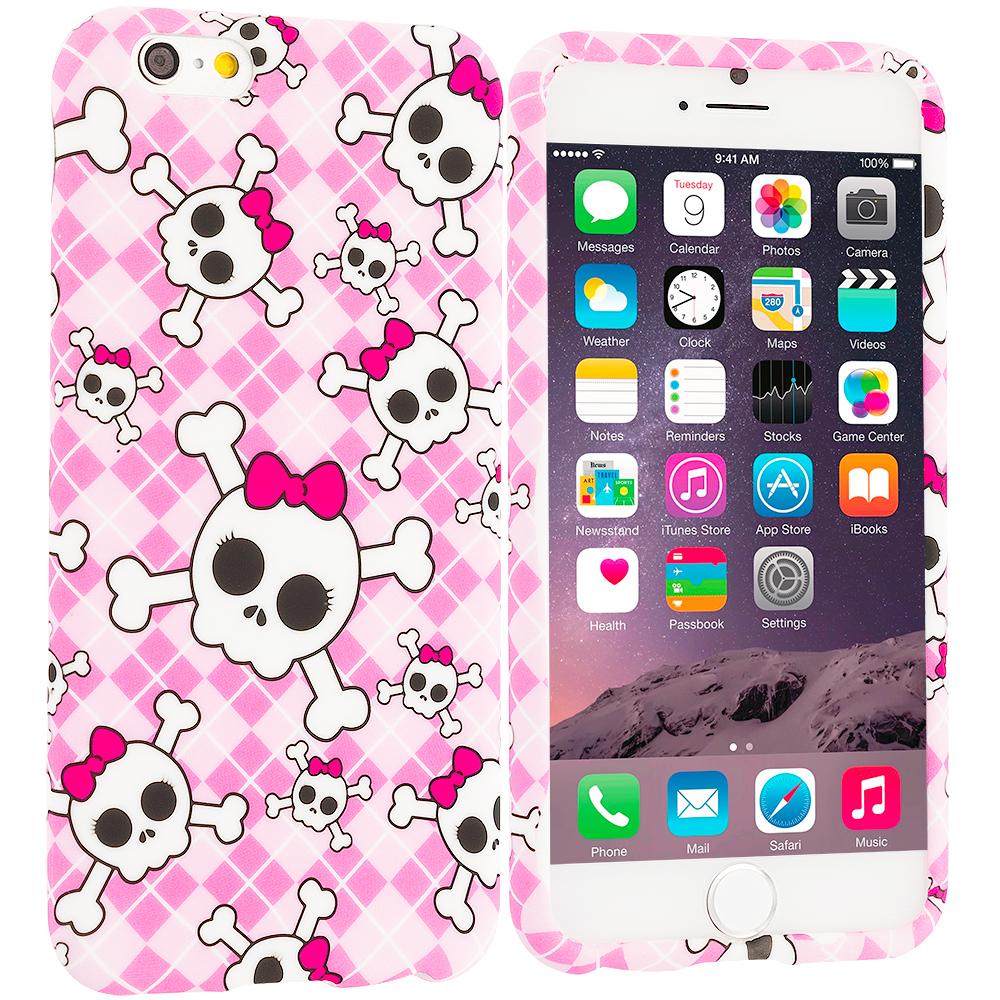 Apple iPhone 6 Plus 6S Plus (5.5) Cute Skulls TPU Design Soft Rubber Case Cover