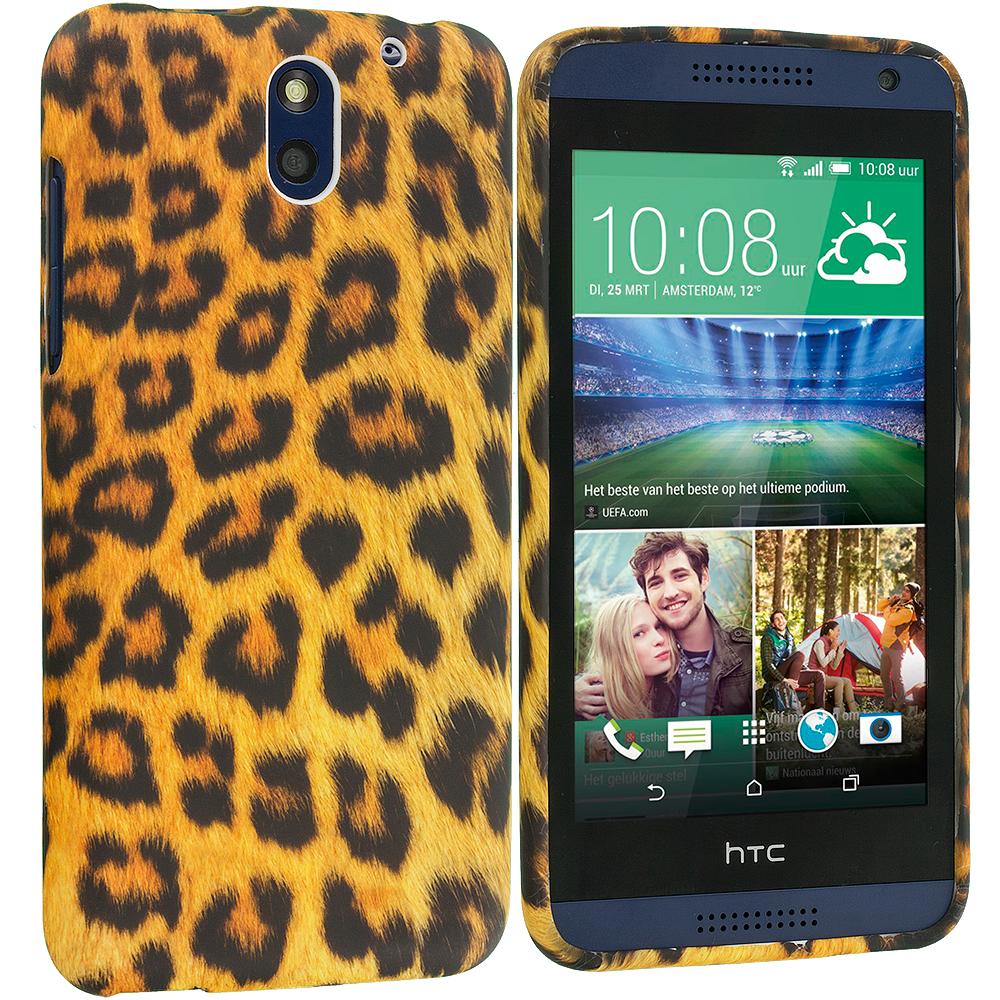 HTC Desire 610 Leopard Print TPU Design Soft Rubber Case Cover