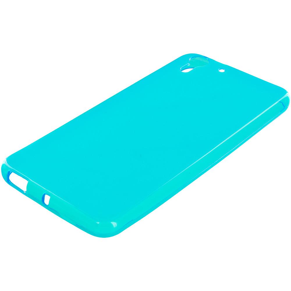 HTC Desire EYE Baby Blue TPU Rubber Skin Case Cover