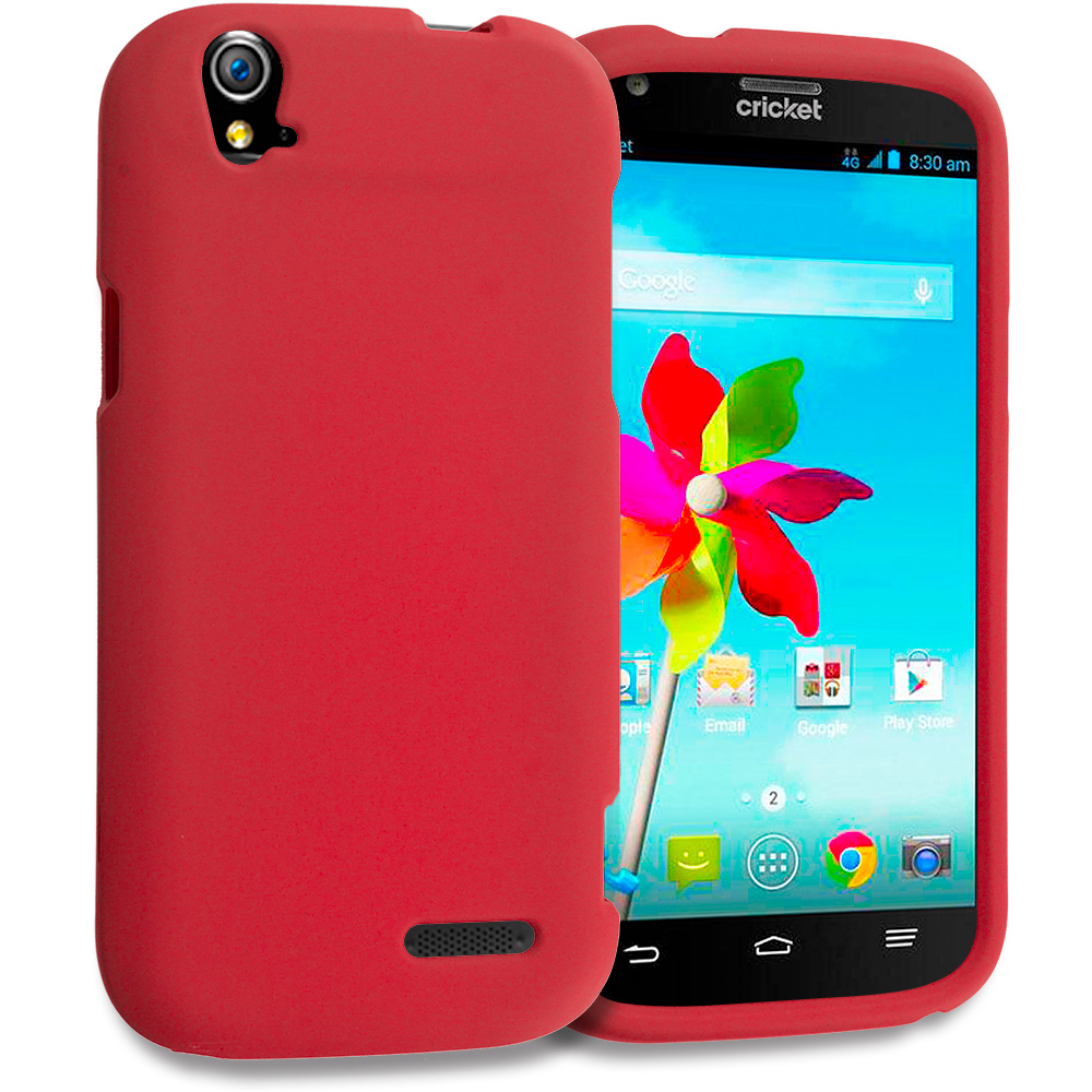 ZTE Grand X Z777 Red Hard Rubberized Case Cover