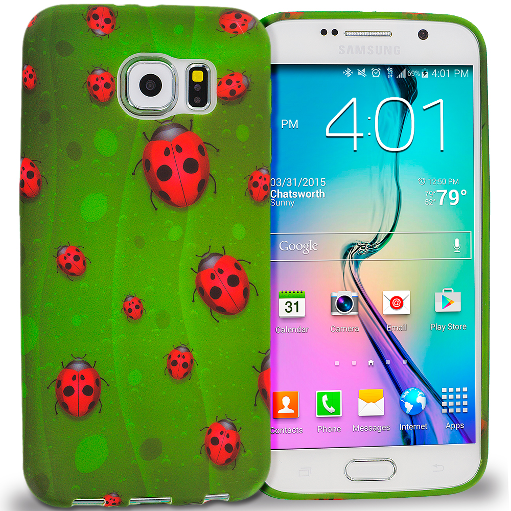 Samsung Galaxy S6 Edge Lady Bug TPU Design Soft Rubber Case Cover