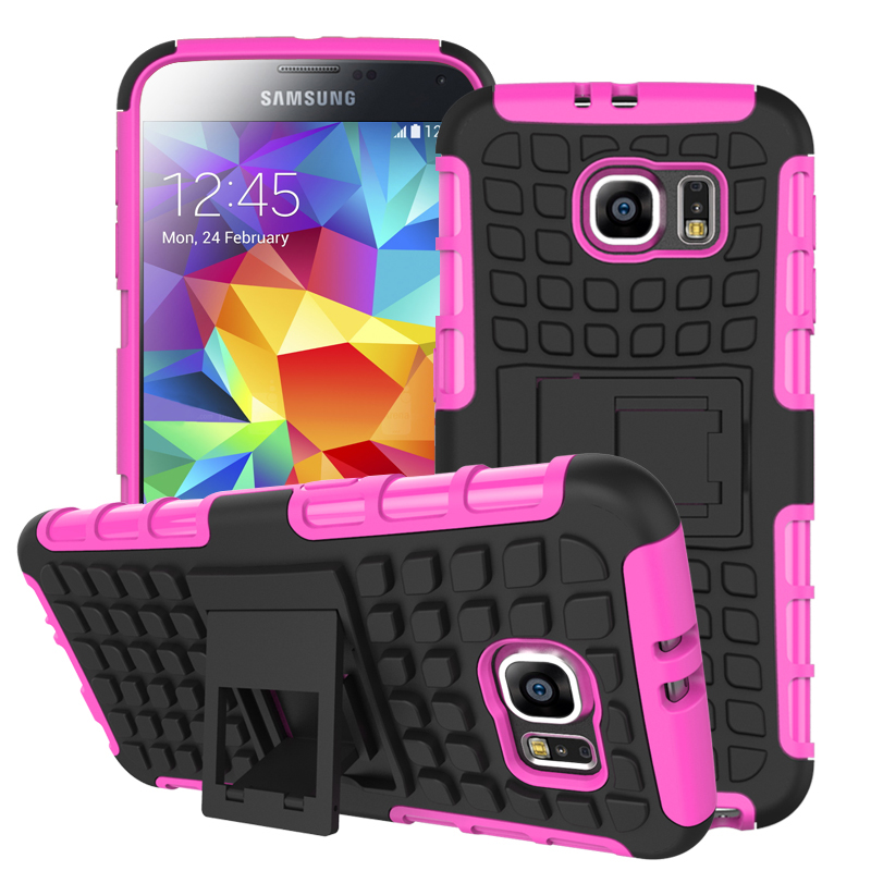 Samsung Galaxy S6 - Hot Pink MPERO IMPACT SR - Kickstand Case Cover