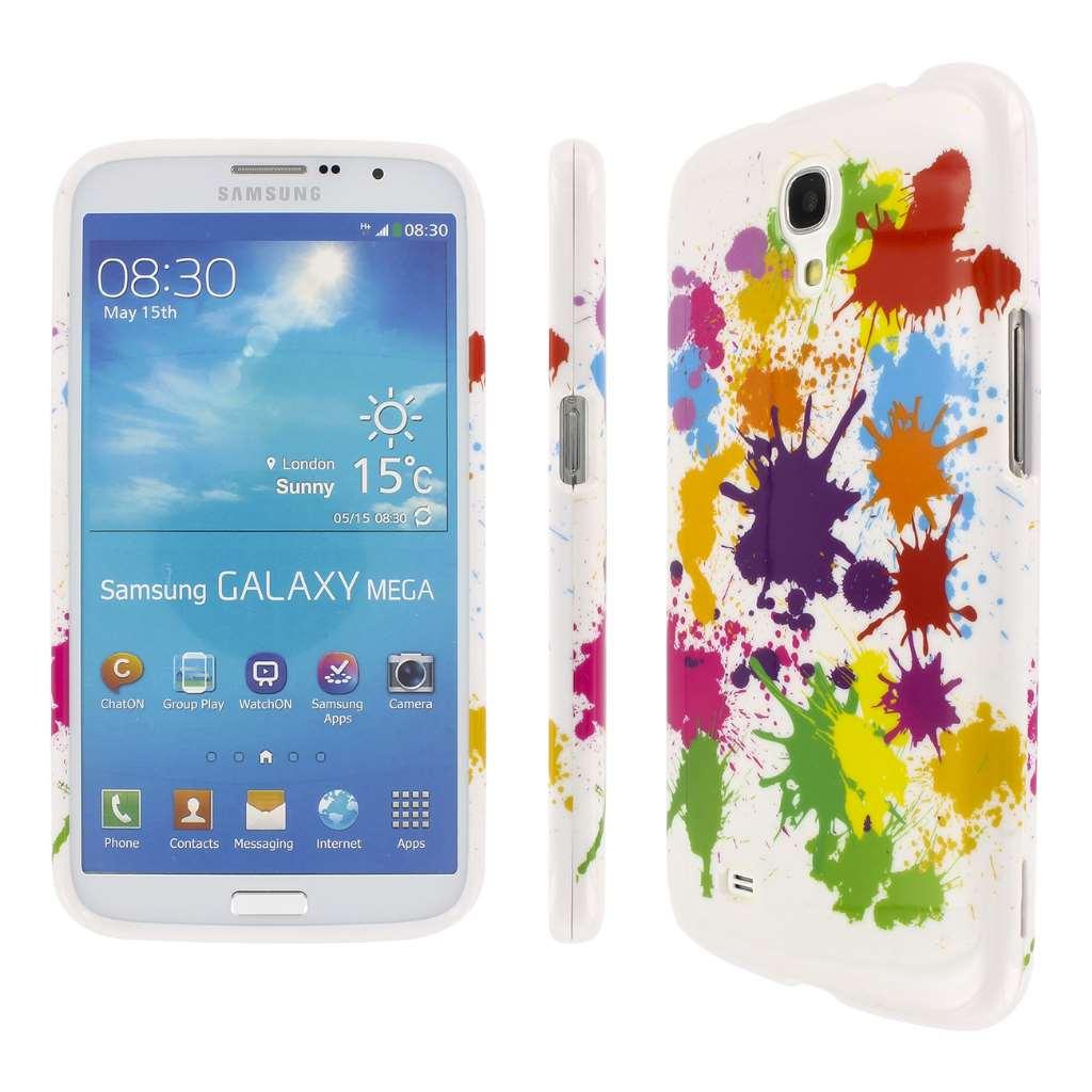 Samsung Galaxy Mega 6.3 - White Paint Splatter MPERO SNAPZ - Glossy Case