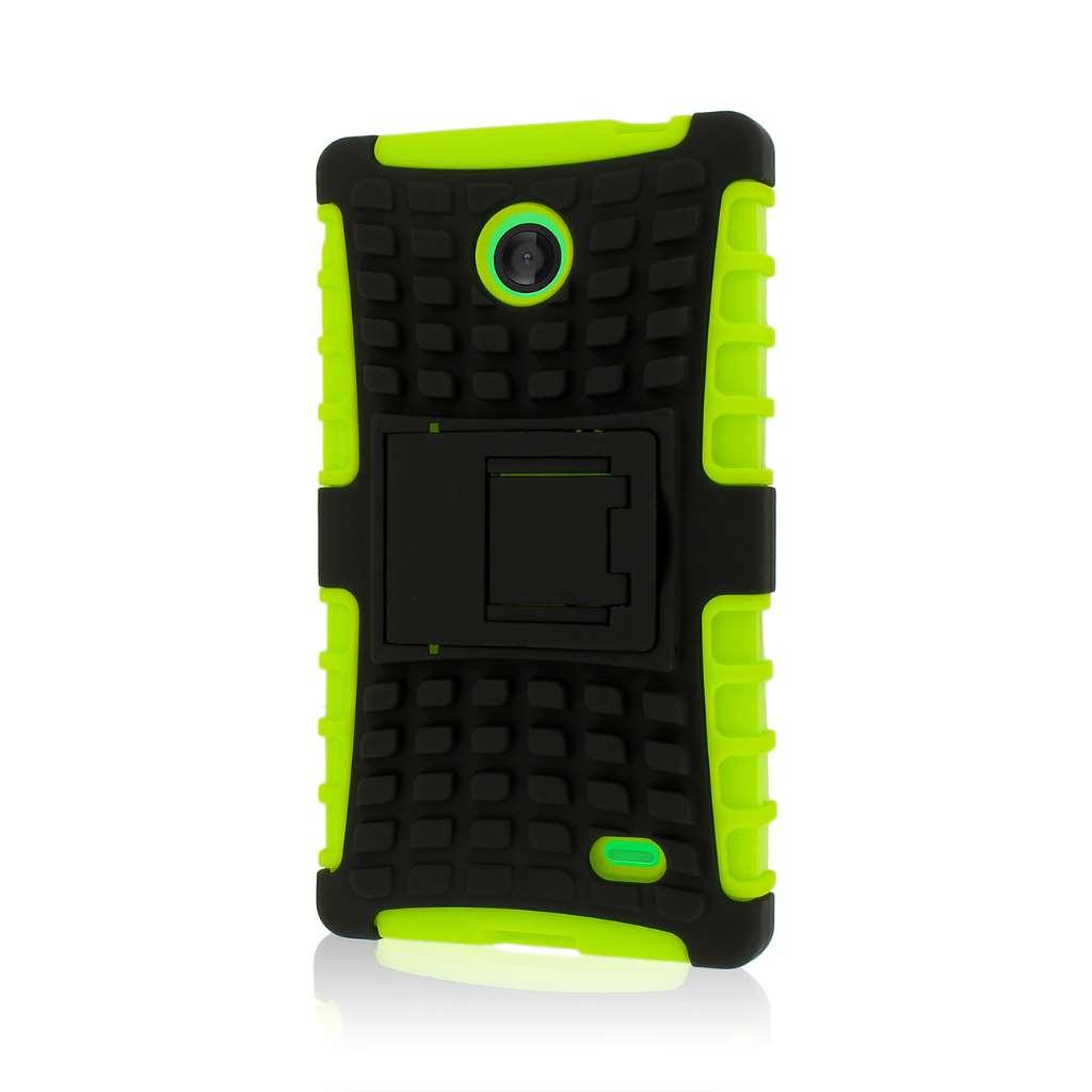 Nokia X - Neon Green MPERO IMPACT SR - Kickstand Case Cover