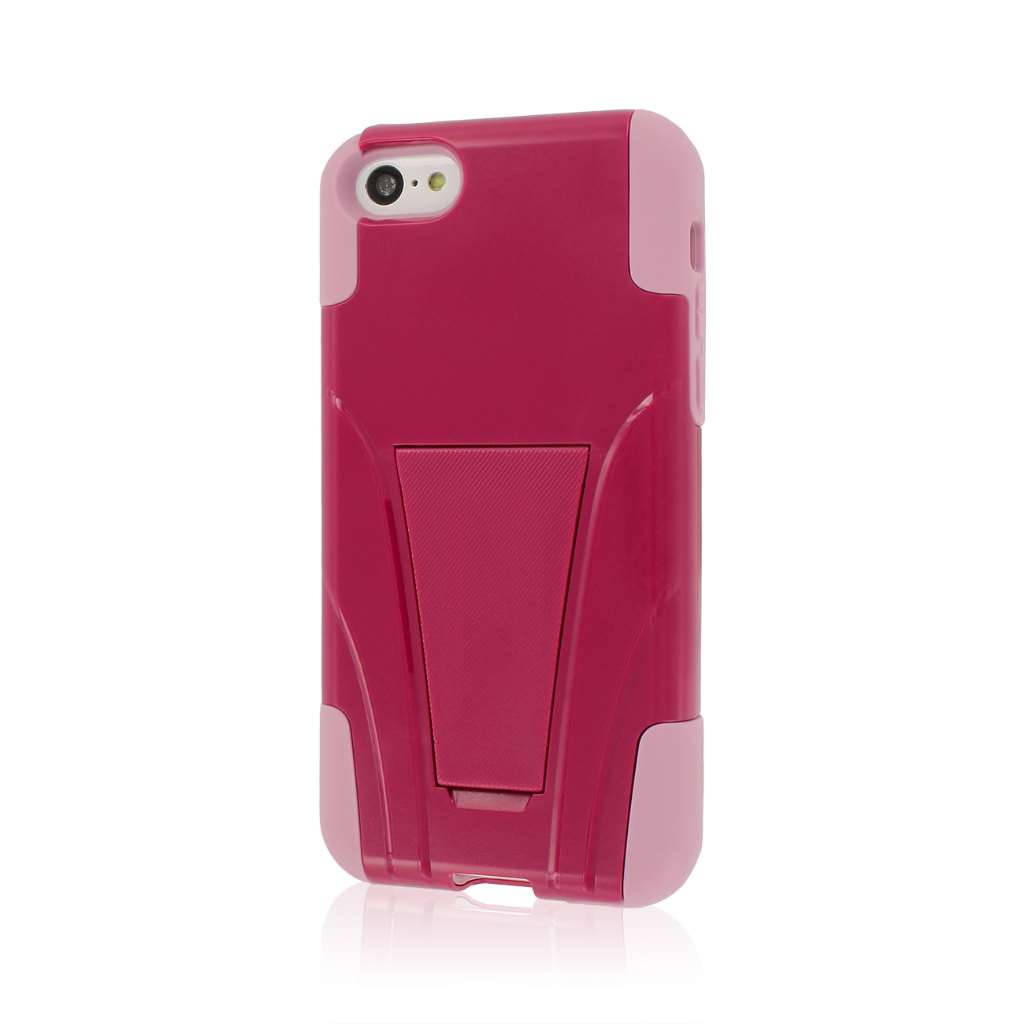 Apple iPhone 5C - Hot Pink/ Pink MPERO IMPACT X - Kickstand Case Cover