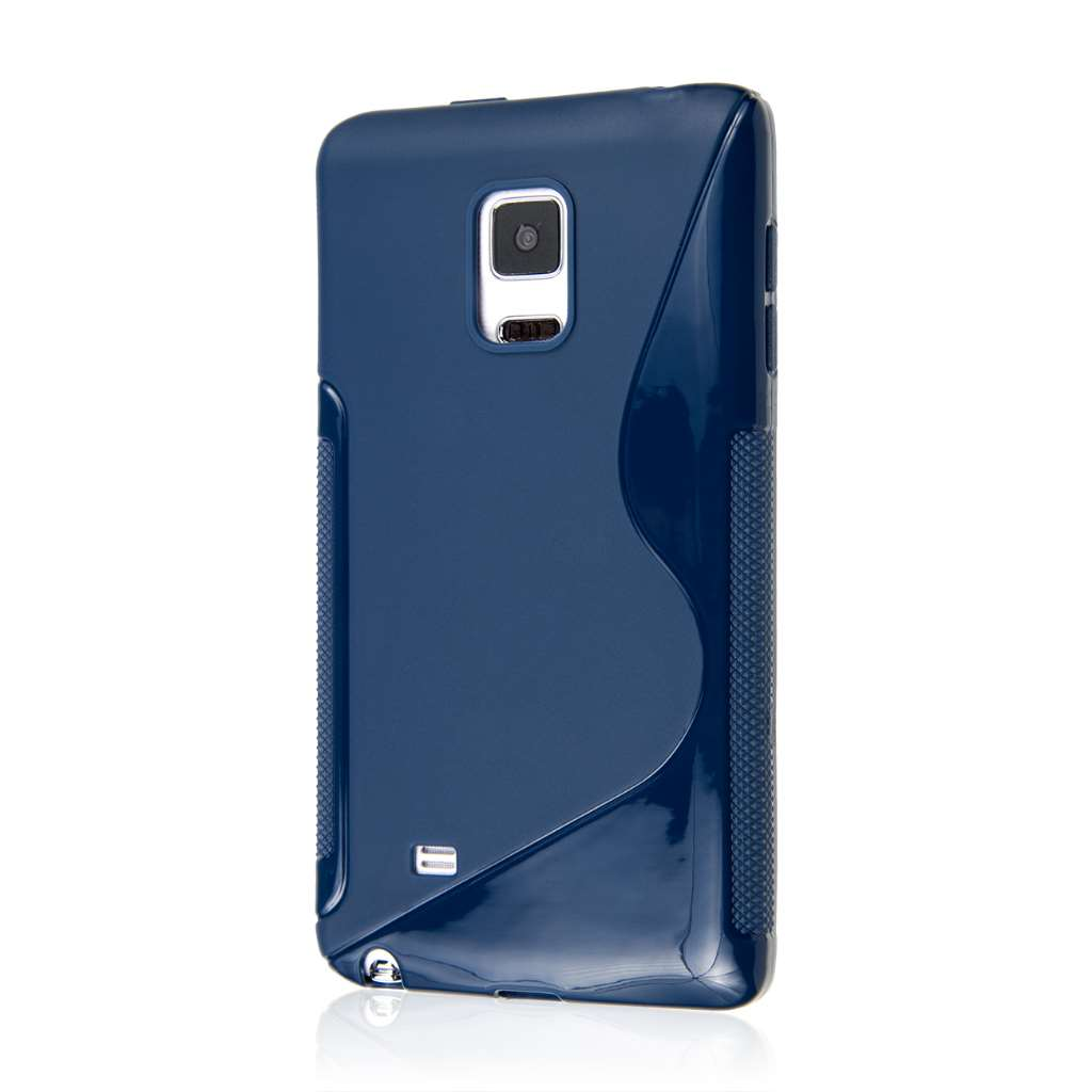 Samsung Galaxy Note Edge - Navy Blue MPERO FLEX S - Protective Case Cover