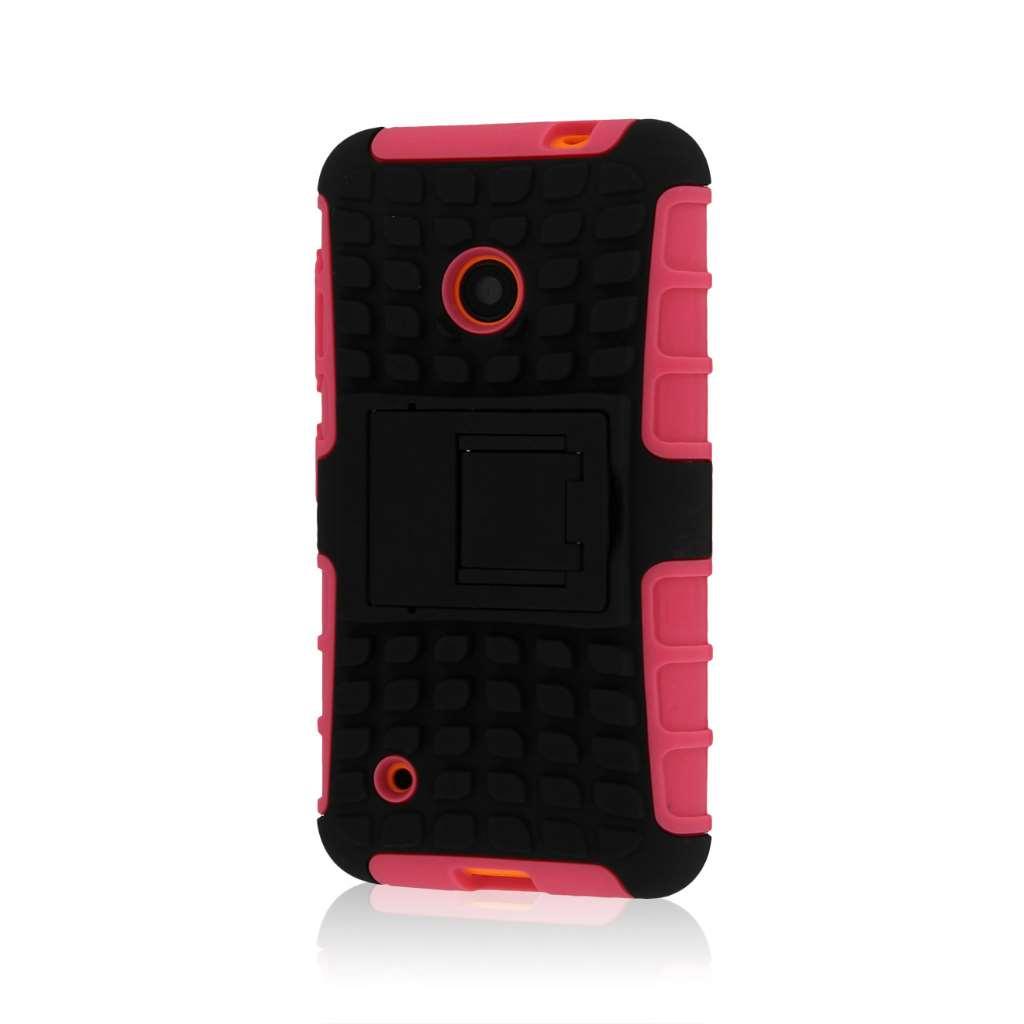 Nokia Lumia 530 - Hot Pink MPERO IMPACT SR - Kickstand Case Cover