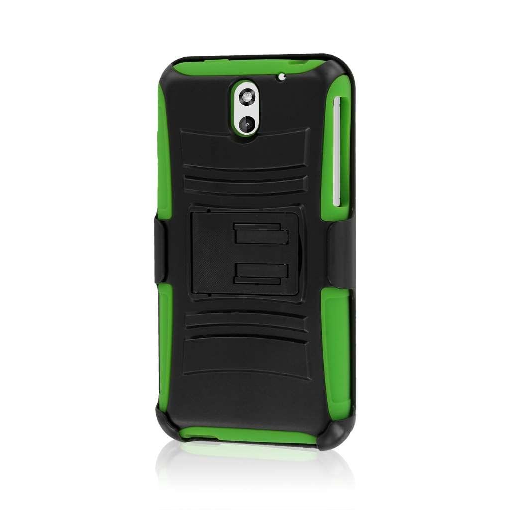 HTC Desire 610 - Neon Green MPERO IMPACT XT - Kickstand Case Cover