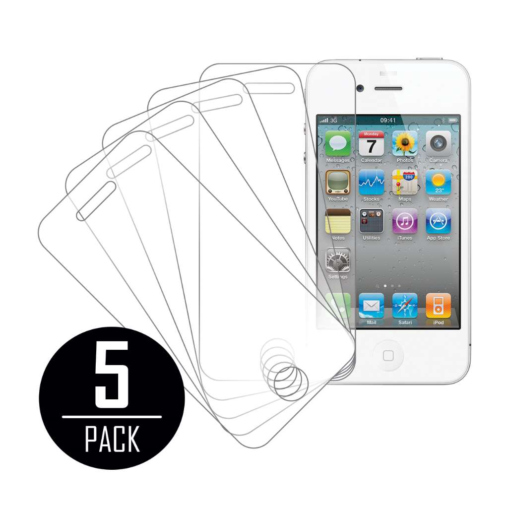Apple iPhone 4 / 4S MPERO 5 Pack of Clear Screen Protectors