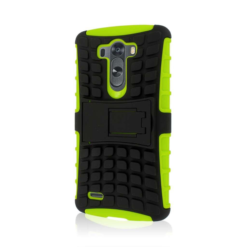 LG G3 - Neon Green MPERO IMPACT SR - Kickstand Case Cover