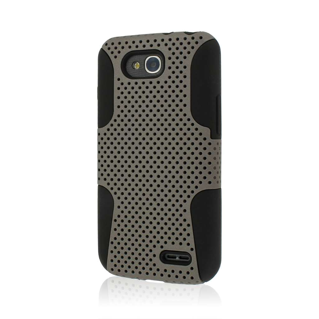 LG Optimus L90 - Gray MPERO FUSION M - Protective Case Cover